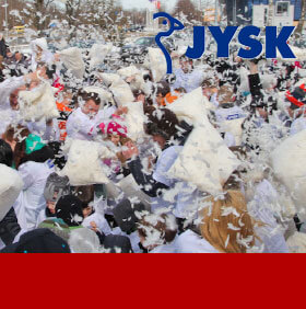 JYSK, PILLOW FIGHT, PRODUCT PR